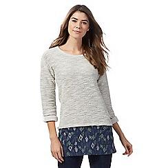 Mantaray - Light grey cut and sew tunic
