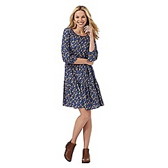 Mantaray - Navy floral print dress