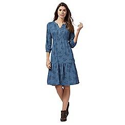 Mantaray - Blue floral print dress