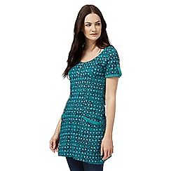 Mantaray - Dark green spot print tunic