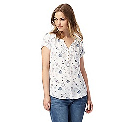 Mantaray - Off white floral print top