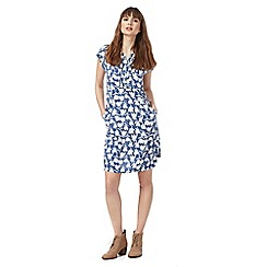 Mantaray - Blue tulip print dress