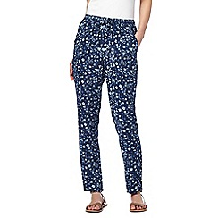 Mantaray - Navy floral print trousers