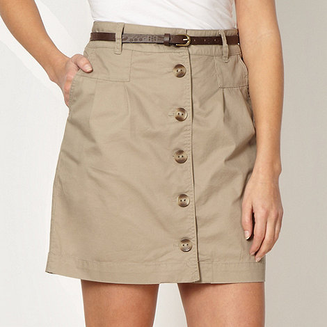 Mantaray - Natural chino skirt