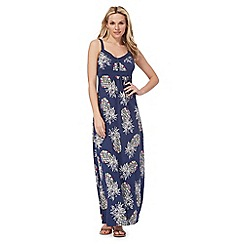Mantaray - Blue pineapple print maxi dress