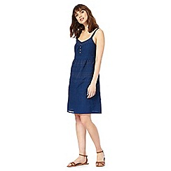 Mantaray - Navy embroidered dress