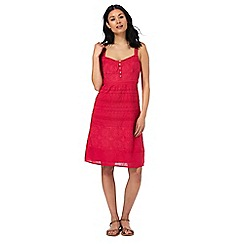 Mantaray - Bright pink embroidered dress