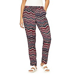 Mantaray - Multicoloured ripple tapered trousers