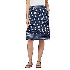 Mantaray - Navy tile print skirt