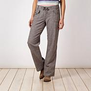 Grey cross hatch trousers