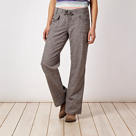 Mantaray - Grey cross hatch trousers