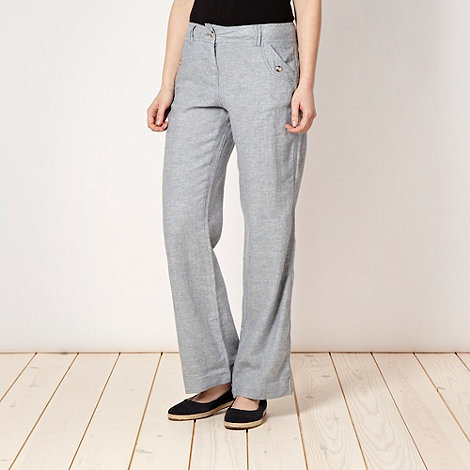 Mantaray - Blue herringbone trousers