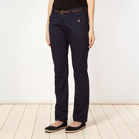 Mantaray - Navy belted chinos