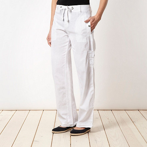 Mantaray - White linen blend trousers