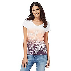 Mantaray - Multi-coloured ombre v-neck top