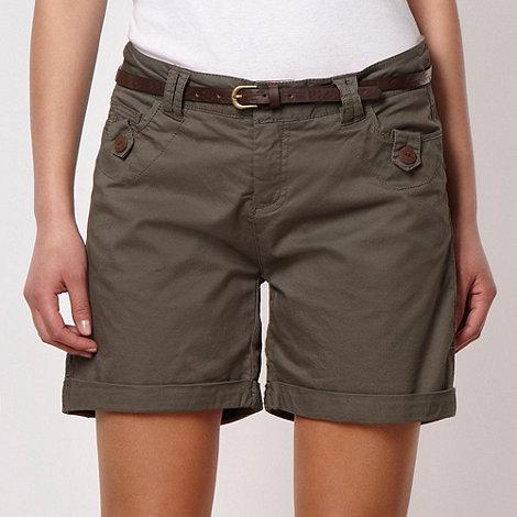 Mantaray - Khaki chino shorts