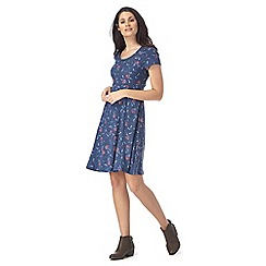 Mantaray - Navy floral print skater dress