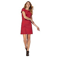 Mantaray - Red stripe short sleeve tunic dress