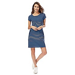 Mantaray - Blue stripe cap sleeves tunic dress