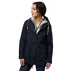 Mantaray - Navy mock layered shower resistant jacket