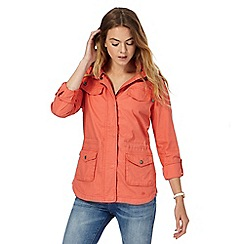 Mantaray - Orange hooded jacket