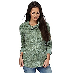 Mantaray - Green palm leaf print jacket