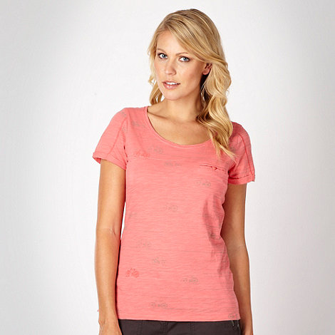 Mantaray - Peach striped bicycle t-shirt