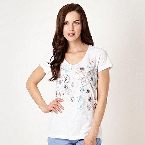 Mantaray - White embellished t-shirt