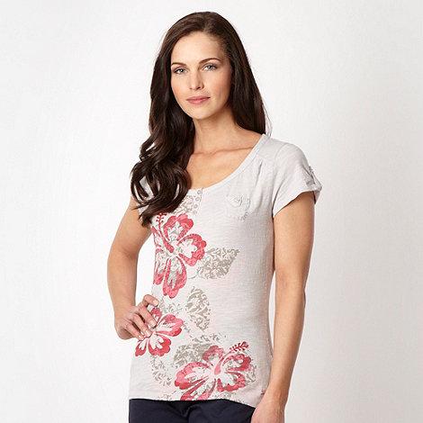 Mantaray - Green layered floral printed t-shirt