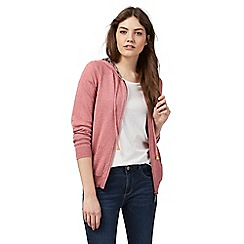 Mantaray - Pink hooded zip through cardigan