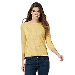 Mantaray - Yellow split back jumper