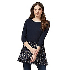 Mantaray - Navy mock layer tunic jumper