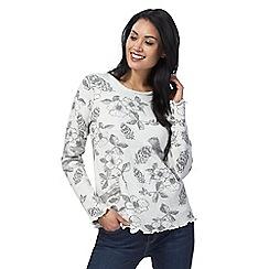 Mantaray - Grey floral print jumper