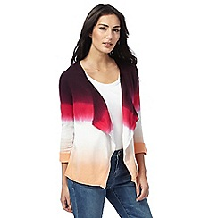 Mantaray - Multi-coloured ombre stripe cardigan