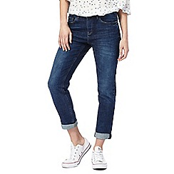 Mantaray - Dark blue mid wash boyfriend jeans