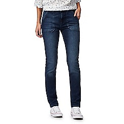 Mantaray - Dark blue mid wash skinny jeans