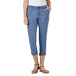 Mantaray - Blue cropped chino trousers