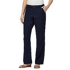 Mantaray - Navy linen blend wide leg trousers