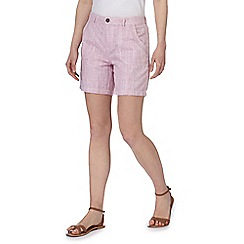 Mantaray - Pink linen blend shorts