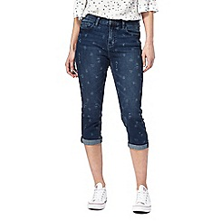Mantaray - Dark blue cropped jeans