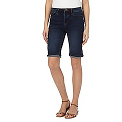 Mantaray - Navy denim knee shorts