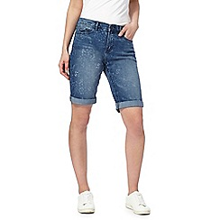 Mantaray - Blue denim knee length shorts