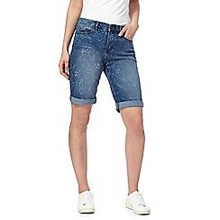 Mantaray - Blue denim knee length shorts