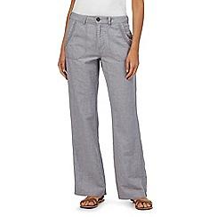 Mantaray - Grey linen wide leg trousers