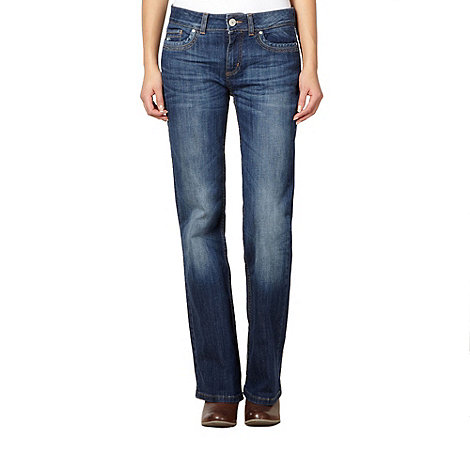 Mantaray - Blue washed effect bootcut jeans