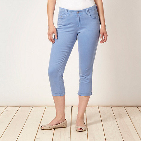 Mantaray - Blue twill cropped jeans