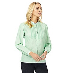 Racing Green - Green lace blouse
