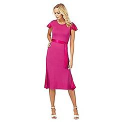 Racing Green - Pink jersey wrap dress