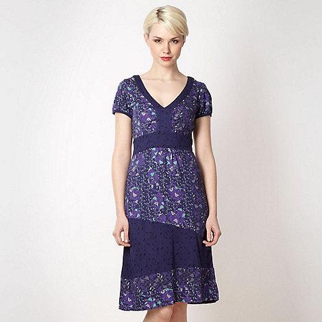 Mantaray - Dark blue mix and match jersey dress