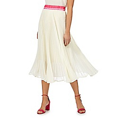 Racing Green - Off white 'Gardenflow' pleated skirt
